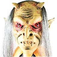 yeux rouges avec masque gris cheveux de latex pour Halloween