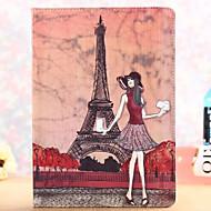 Paris Fashion Sexy Girl Pattern PU Leather Full Body Case with Stand for iPad mini/mini2/mini3