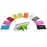 Univerzální touch mini držák na mobil stojan s sluchátka navíjecí přenosným silikon stojan na telefon s slotu pro paměťové karty