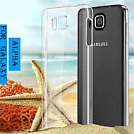 Voor Samsung Galaxy hoesje Transparant hoesje Achterkantje hoesje Effen kleur PC Samsung Alpha