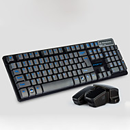 Mechanical suspension  wireless keyboard and mouse set(Assorted Colors)