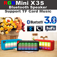 rgb led intermitente x3 Mini speake bluetooth inalámbrico altavoz de la música de audio de micrófono blanco fm tf rgb para iPhone6