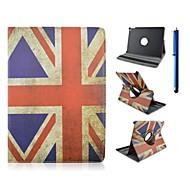 9,7 ιντσών 360 μοιρών περιστροφής μοτίβο σημαία με την περίπτωση περίπτερο και στυλό για ipad αέρα 2 / iPad 6