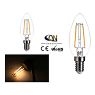 ONDENN E12 2 W 2 COB 200 LM 2800-3200K K Warm White A Dimmable Candle Bulbs AC 110-130 V