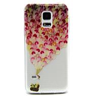 Varten Samsung Galaxy kotelo Läpinäkyvä / Koristeltu Etui Takakuori Etui Ilmapallo PC Samsung S5 Mini