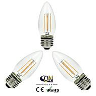 3 pezzi ONDENN E26/E27 4 COB 400 LM Bianco caldo A60(A19) edison Vintage Lampadine LED a incandescenza AC 220-240 / AC 110-130 V
