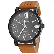 JUBAOLI 男性 軍用腕時計 ファッションウォッチ クォーツ レザー バンド