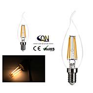 2 pçs ONDENN E14 4 COB 400 LM Branco Quente CA35 edison Vintage Lâmpadas de Filamento de LED AC 220-240 V