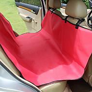 Σκύλος Κάλυμμα Καθίσματος Αυτοκινήτου Κατοικίδια Χαλάκια & Μαξιλαράκια Μονόχρωμο Αδιάβροχη Φορητό ΠτυσσόμενοΜαύρο Γκρίζο Καφέ Κόκκινο