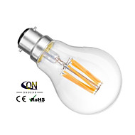 ONDENN B22 6 W 6 COB 600 LM 2800-3200K K Warm White A Dimmable Globe Bulbs AC 220-240/AC 110-130 V