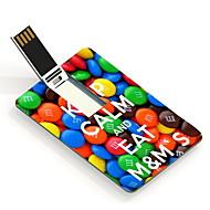 16gb mantenere la calma e mangiare m&card design flash drive USB di m