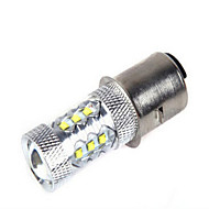 1X H6 BA20D 80W 14LED High Power LED 2800-3500/6000-6500 K Cool White  The LED lamp of motorcycle Light DC 24/DC 12 V