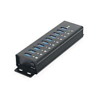 7-port hub USB 3.0 Super Speed com caso de liga de alumínio
