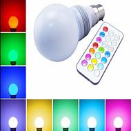 1 pcs ding yao B22 10W 1X SMD 5730 60-400LM RGB Globe Bulbs AC 85-265V