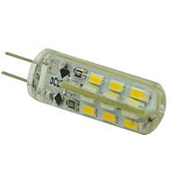 G4 1.5 W 24led SMD 3014 120lm LM 따뜻한 화이트/차가운 화이트 매립형 레트로핏 밝기 조절 콘 전구 DC 12 V