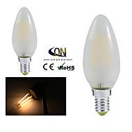 2 pçs ONDENN E12 4 COB 400 LM Branco Quente A60(A19) edison Vintage Lâmpadas de Filamento de LED AC 110-130 V