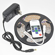 Waterproof 5M 300X3528 SMD RGB LED Strip Light and 10Key RF Controller and 3A EU Power Supply (AC110-240V)