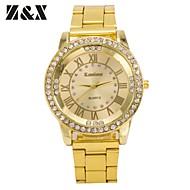 número de diamantes de cuarzo de moda del reloj análogo de los deportes de los hombres (colores surtidos)