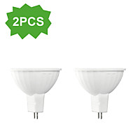 2-Pack H+LUX™ LED MR16 GU5.3 7W 15xSMD5630 450lm CRI>80 2700K Warm White Dimmable/Decorative Spot Lights DC12/AC12V