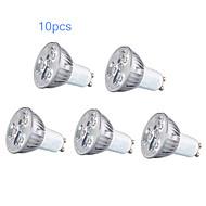 10pcs GU10 3W 200-250LM Light LED Spot Bulb(85-265V)