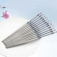 Blue & White Porcelain Pattern Stainless Steel Chopsticks