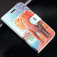 Animal elephant PU Leather Full Body Wallet Protective Case with Stand and Card Slot For Samsung Galaxy S3 I9300