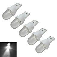 Jiawen® 5pcs t10 0.5w 30lm 6000-6500k lâmpadas de sinal de carro brancas frescas led luz do carro (dc 12v)
