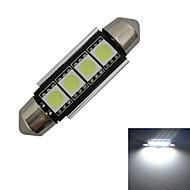 Luz de Decoração Festoon 80-90lm LM 6000-6500 K Branco Frio 4 SMD 5050 DC 12 V
