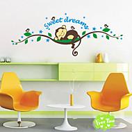 adesivi murali sogno scimmia del fumetto dolci per i bambini in camera decorazioni per la casa zooyoo1203 camera da letto diy murale