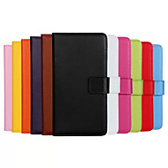 Genuine Leather Wallet Case for Samsung Galaxy S6 Edge (Assorted Colors)