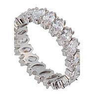 Dame Statement-ringe Kærlighed luksus smykker Brude kostume smykker Zirkonium Ædelsten Simuleret diamant Smykker Smykker Til Bryllup Fest