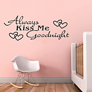 altijd kus me goodnight citaten zy8053 adesivo de parede vinyl muurstickers home decor muurschildering kunst