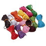 12 x secuencia de la cuerda del filamento encerado cuentas de collar de algodón de 1 mm