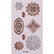 1 - 6*5 - Χρυσό Άλλα - Αυτοκόλλητα Τατουάζ - Non Toxic/Μοτίβο/Χαμηλά στην Πλάτη/Waterproof - από Χαρτί για