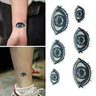 Inne Naklejki z tatuażem - Dziecięce/Damskie/Męskie/Dorosły/Dla nastolatków - Eyes - 6*10.5cm (2.36*4.13in) - Paper - Czarny/Niebieski - 1