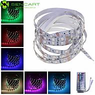 SENCART 1 M 60 5050 SMD RGB Chippable/Fjernbetjening/Dæmpbar/Koblingsbar/Passer til Køretøjer/Selvklæbende 15 W Fleksible LED-lysstriber