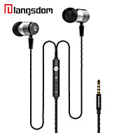 Langsdom F1 In-Ear Earphone Xbs Bass Metal Earbuds Volume Control Cellphone Earphone with Mic Headset