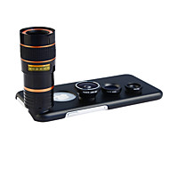 Apexel 4 in 1 Lens Kit 8X Telephoto Lens +Wide-angle+Macro Lens +Fisheye Lens with Back  Case for iPhone 6