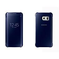 Για Samsung Galaxy Θήκη Θήκες Καλύμματα με παράθυρο Αυτόματη αδράνεια / αφύπνιση Καθρέφτης Ανοιγόμενη Πλήρης κάλυψη tok Μονόχρωμη Σκληρή