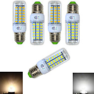 5 pcs Ding Yao E14 12W 48X SMD 5730 900-1000LM 2800-3500/6000-6500K Warm White/Cool White Corn Bulbs AC 220-240V