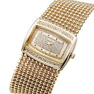 Mode Luxus Kristallrhinestonemessingkette Band Damen der Frauen-Handgelenk-Quarz-Armband-Armband-Uhr