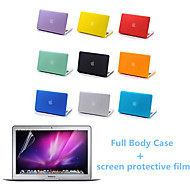 Top Quality Full Body Matte Case and Screen Protetive Film for Macbook Air 13.3 inch (Assorted Colors)