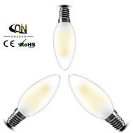 3 pçs ONDENN E12 2 COB 200 LM Branco Quente C35 edison Vintage Lâmpadas de Filamento de LED AC 110-130 V