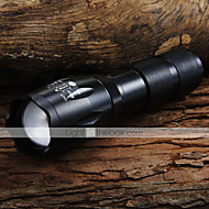 CREE XML T6 LED 5-Mode 1600LM Zoom Flashlight + Battery