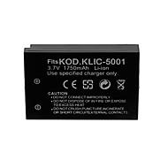 1750mAh kamera batteri för Kodak KLIC-5001 / sanyo db-L50