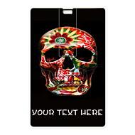 unidade flash USB flash drive personalizado cartão usb 32gb design colorido crânio
