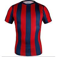 남녀 공용 - 통기성/높은 호흡 능력(>15.001g)/정전기 방지/wicking/압축/초경량 재질 - 짧은 소매 - 축구 - 티셔츠 ( 사진과 같이 )