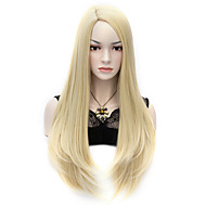 """27.6"""" 70cm Light Blonde U Style Sexy Long Straight Anime Hair Cosplay Costume Party Full Wigs"""