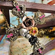 Damskie Naszyjniki z wisiorkami Flower Shape Cross Shape Skull shape Rose Stop biżuteria kostiumowa Biżuteria Na Halloween