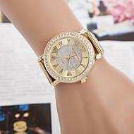 CURREN 女性用 ドレスウォッチ ダミー ダイアモンド 腕時計 模造ダイヤモンド クォーツ 合金 バンド 光沢タイプ ゴールド